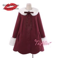 Girly Girl Originals Dress on Girly Girl の To Alice.Girly Sweet Petal Hem Plush Dress Lolita Woolen Overcoat catches up with the Girly Girl style.Get yourself ready to look fashion.Don't miss it.