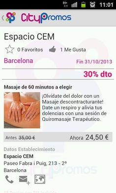 Espacio CEM - Ofertas de #masajes en #Barcelona ( #app Citypromos)