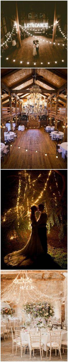 65 Breathtaking String Bistro Lighting Wedding Ideas You Must See #rusticwedding #backyardwedding #weddingideas