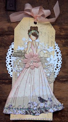 Prima Doll Stamp tag
