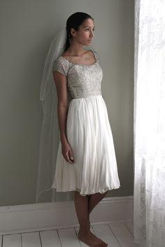 Original 1950s vintage wedding dress   Decades Silk Collection