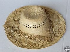 #women hat : women straw hat size L (58) natural palm straw made in Guatemala (01 withing our EBAY store at  http://stores.ebay.com/esquirestore