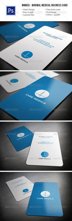 Medical Doctor Business Card Template PSD óptica Pinterest - business card template for doctors