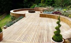 Garden Design With Decking Last Updated on January Ideas Garden Ideas 4 Nice Pictures Small Garden Ideas Decking Veranda Design, Deck Design, Landscape Design, Sloped Landscape, Design Design, Back Gardens, Small Gardens, Outdoor Gardens, Tropical Gardens