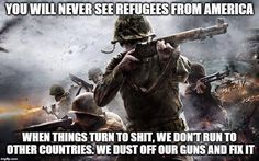 American refugees will never exist as long as we uphold our Constitution