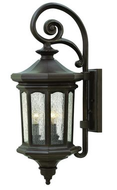 This outdoor wall light from Hinkley's Raley collection gives a regal and dignified appearance to your outdoor space. It is designed to cast a soft ambient light over a wide area. Browse more of our outdoor lighting collections.