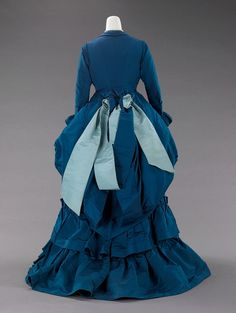 Worth, afternoon dress, 1872, Metropolitan Museum.