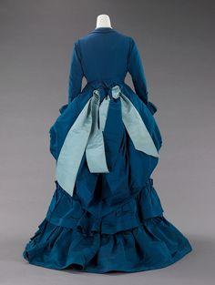 Worth, afternoon dress, 1872, Metropolitan Museum.