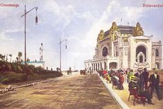 Constanta - Casinoul si Bulevardul - antebelica
