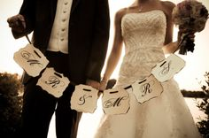 Custom Vintage Wedding Banners. $25.00, via Etsy.