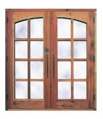 french doors leading to future patio and back deck - need two of these, maybe in an off white shade!
