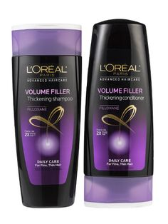 Hair (shampoo and conditioner—fine hair): The more you wash your hair with L'Oréal Paris Advanced Haircare Volume Filler Thickening Shampoo and Conditioner, the thicker it looks