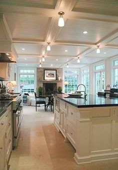 Holland/Architect/projects traditional kitchen This is my ultimate dream kitchen Kitchen Tops, New Kitchen, Kitchen Decor, Kitchen Living, Living Room, Awesome Kitchen, Kitchen Ideas, Kitchen Island, Kitchen Layout