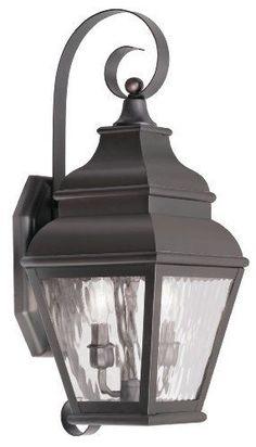 2 Light Wall Lantern Outdoor Lighting Bronze Finish Lamp Exterior Mount Spot #LivexLighting