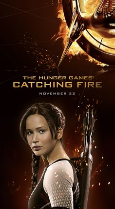 Katniss Everdeen: 1 of 8 exclusive new #CatchingFire character wallpapers available at https://cokecatchingfire.com/