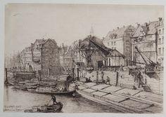 Riefesell - Hohen Brücke beim neuen Kran,1885