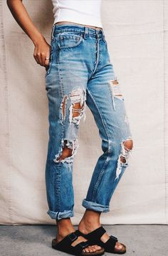always love ripped jeans