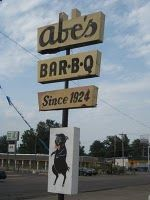 Abe's BBQ, Clarksdale MS  Mama & Daddy used to take my brother, sister and me there almost every Friday night. Had my first girl date here!
