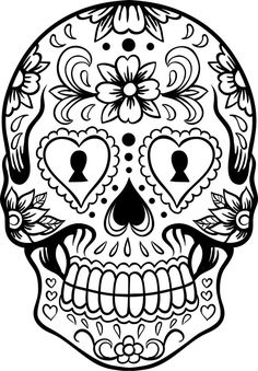 Sugar Skull Version 6 Wall Vinyl Decal Sticker Art by DabbleDown