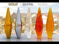 vray material gold silver glass effects tutorial - YouTube