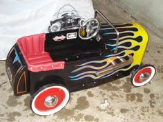 My dad is amazing and spoils his grandkids rotten. He customized each pedal car for them. You will never find another one like them!