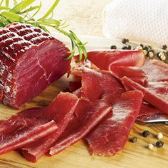 Appenzeller Mostbröckli  Cured and smoked beef meat - Canton of Appenzell Switzerland