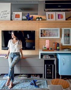 Home Design Ideas Home Living Room, Living Room Decor, Salas Lounge, Muebles Living, Interior Decorating, Interior Design, Small Apartments, Bars For Home, Decoration