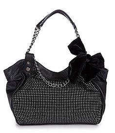 Betsey Johnson purse-- so cute! Betsy Johnson Purses, Betsey Johnson Handbags, Purses And Handbags, Leather Handbags, Clutch Handbags, Blue Jean Purses, Western Purses, Purse Styles, Cute Purses