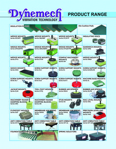 #VibrationDamping -comprehensive machinery mounting systems #dynemech.com