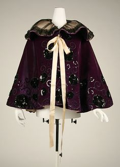 Evening cape Date: 1894–98 Culture: American or European Medium: silk Accession Number: 49.3.15