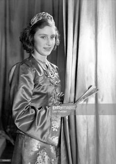 Princess Margaret Rose (1930 - 2002) younger daughter of King George VI and Queen Elizabeth, in her costume for a production of 'Aladdin' at Windsor Castle.