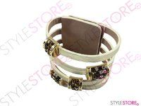 Golden leather Swarovski bracelet from Cango & Rinaldi