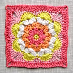 Crochet Pattern Tutorial Flower Square *Addition*