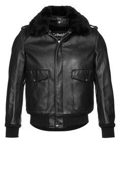 Schott Made in USA 184SM - Lederjacke - black - Zalando.de Lederjacke Herren  Schwarz. Zalando Shop bb3c965e8f