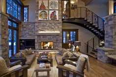 Kelly & Stone Architects | Independence Retreat Gallery | Rustic Great Room