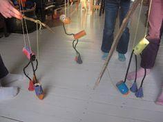 Creatief met wc rollen: DIY-Vogel-marionet