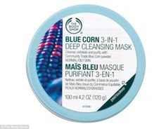 Banish skin blues: The Body Shop's bestselling £10 Blue Corn 3-in1 Deep Cleansing Maskrem...