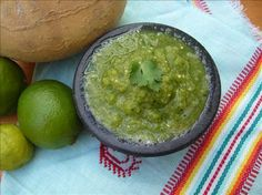 Smoky, Spicy Tomatillo Salsa Verde Aka Green Hell! from Food.com:   This is a very spicy, smokin, garlicy and refreshing salsa.  Thanks to Nicca Chick I added Green Hell to the title! Love it!