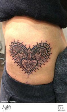 Tattoo by Marco Manzo #ink #tattoo #heart