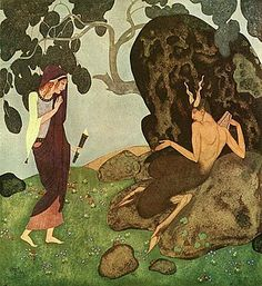 Edmund Dulac - from Tanglewood Tales by Nathaniel Hawthorn {Ancient Greek tales and tragedies} Edmund Dulac, Art And Illustration, Watercolor Illustration, Vintage Illustrations, Botanical Illustration, Walter Crane, Toulouse, Art Nouveau, Art Deco