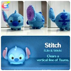 This pattern is available only in English language.  For those who love cute things, Tsum Tsum Stitch is at the perfect size to hold on your palm
