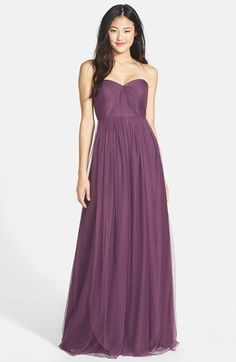 Nordstrom sells these too if we want to order them to check them out.Jenny Yoo 'Annabelle' Convertible Tulle Column Dress (Regular & Plus Size) Mismatched Bridesmaid Dresses, Purple Bridesmaid Dresses, Blue Dresses, Wedding Dresses, Women's Dresses, Wedding Bridesmaids, Wedding Shoes, Tulle Gown, Strapless Dress Formal