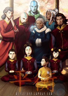 Air Nation - Legend Of Korra: Balance by MeTaa.deviantart.com on @deviantART- this is good but Mili looks like an adult! And so does the youngest kiddo.