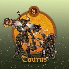 'Zodiac Series: Taurus' 2015  #illustration #art #zodiac #taurus #fantasy #digital #bull