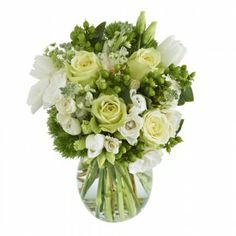 Send a bouquet of love to your friends and relatives this year with the beautiful 'Farmer's Favorite Bouquet' by The Grower's Box! These 30 stems of stunning flowers come together in a striking melody of green and white. Flowers include roses, stock, lisianthus, tulips, hypericum and more! Visit GrowersBox.com for more flower gifting ideas!