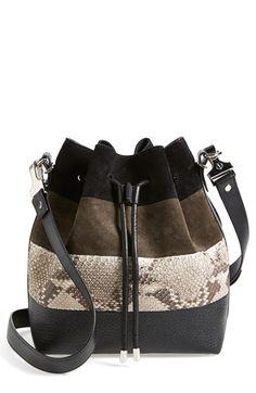 ea0eb67a43b6 Proenza Schouler  Medium  Suede   Genuine Snakeskin Bucket Bag Sac Seau,  Sac Cuir
