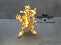 Goofy 24 Karat vergoldet.Gold, Gold Plating, 24 K, Vergoldet, Elektro Plating
