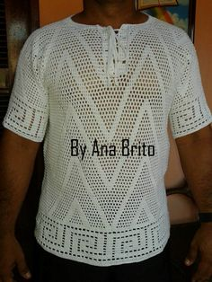 3078361bf65b7 Oi pessoal,boa noite! Tudo bem com vcs Espero que sim. A postagem de hoje é  sobre uma blusa masculina em crochê,a primeira blusa masculina.