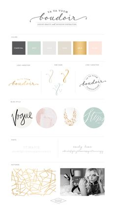 A Modern Beauty Website Design :: Va Va Voom Boudoir
