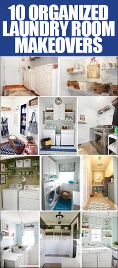 Make the #laundry room the best looking space in your home with these inexpensive makeover ideas